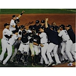 Andy Pettitte Signed 2009 Yankees WS Celebration 16 x 20 Photo